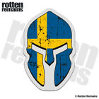 Sweden Flag Spartan Helmet Decal Swedish Norsemen Gloss Sticker HVG