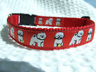 BICHON FRISE TOY BREED SPECIFIC DESIGN RIBBON DOG COLLAR LEAD LEASH or BELT