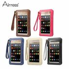 """Airress 6.3"""" Universal Pouch Wallet Case PU Leather Full Touch Mobile Phone Bag"""