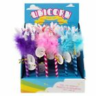 Fluffy Unicorn Pen - 3 Colours Pink Blue Purple Gift Present Filler Pens