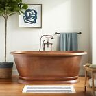 Signature Hardware Kaela Copper Pedestal Tub