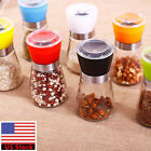 Stainless Steel Salt Pepper Grinder Mill Brushed Glass Bottle Spice Kitchen Tool