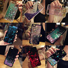 Bling Girl's Dynamic Liquid quicksand Heart Holder Soft TPU+PC Phone Case Cover