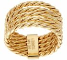Polished 5-Row Rope Design Stack Ring Real 14K Yellow Gold QVC Sz 5 6 7 8 9