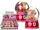 I Love You Bear Glitter Globe - Romantic Gift Partner Christmas Shake Teddy