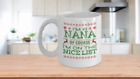 I'm a Nana Of Course I'm on the Nice List Mug