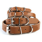 Genuine Cow Leather Pet Dog Cat Puppy Collar Neck Buckle Adjustable US