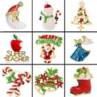 Christmas Tree Snta Claus Angel Snowman Brooch Pin Women Lady Jewelry Xmas Gift
