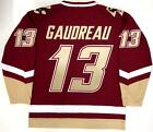 JOHNNY GAUDREAU BOSTON COLLEGE EAGLES UNDER ARMOUR MAROON JERSEY CALGARY FLAMES