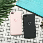 Fashion Cute Love Heart Frosted Phone Case Cover For Apple iPhone X 7 6S Plus 5