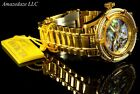Invicta Women Bolt Multifunction Abalone Dial 18K Gold Plated Stainless St.Watch
