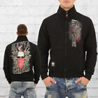 Mafia and Crime Männer Sweatjacke Brigade 441 schwarz Zip Sweater Herren Jacke