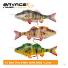 Savage Gear 4D Line Thru Perch Swim Baits / Lures - Pike Zander Musky Fishing