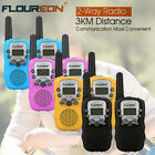 2x FLOUREON 8CH Handheld Walkie Talkies 2 Way radio Outdoor Interphone for Kids