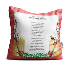 Sister You are Very Special Red Floral Branches Poem Throw Pillow