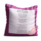 Sister-In-Law You are Very Special Purple Floral Design Poem Throw Pillow