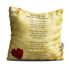 Sister You are Very Special Beautiful Vintage with Red Roses Poem Throw Pillow