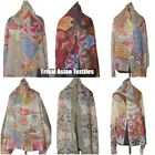 Digital Print Wool Shawl Cashmere Pashmina Scarf New Women's Wrap Girl's Stole