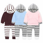 Toddler Kid Baby Boy Girl Outfit Clothes Hooded Sweater Tops+Pants Trouser O0112