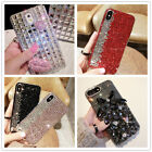 Hot 3D Glitter Crystal Bling DIY Rhinestone Diamond Clear Case Cover For LG Case