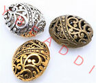10pcs Tibetan Silver Ellipse Shaped Hollow Spacer Bead Findings Fashion DIY Bead