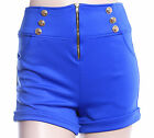 New Women Ladies Glam Relaxed Fit Shorts w/ Fold Up Hem, Pockets, Stretch Fit