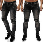Röhrenjeans Destroyed Skinny Jeans Herren Dark Grey
