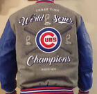 2016 Chicago Cubs World Series Champs Wool Leather Reversible Jacket Adult Small