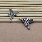 25/100 pieces of alloy ancient silver lovely hummingbird ornament charm pendant