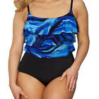 NEW Longitude Ruffle Tier Tummy Control 1pc Swimsuit SIZE 22W 22 Cup C D + USA