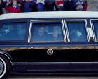 President George H. W. Bush in limousine at 1989 Inaguration Photo Print
