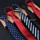 Lots of New FASHION men's Adjustable Pre Tied neck tie checked dots floral ties