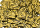 Gold Van Gogh Hand Cut Stained Glass Mosaic Tiles 605