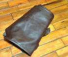 BR627 Leather Cow Hide Cowhide Upholstery Craft Fabric Classic Brown