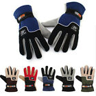 1pair Men Thick Warm Fleece Thermal Motorcycle Riding Ski Snow Snowboard Gloves