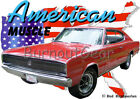 1966 Red Dodge Charger Custom Hot Rod USA T-Shirt 66 Muscle Car Tees
