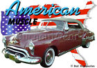 1949 Red Oldsmobile Convertible Custom Hot Rod USA T-Shirt 49 Muscle Car Tees
