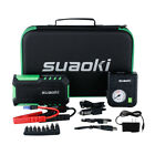 Suaoki G7 Car Jump Starter Power Bank Battery Charger+80PSI Air Compressor Pump
