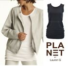 PLANET by Lauren G  9802MT Matte Jersey  ROUCHED TANK  Slim Top  SS 2018 BLACK