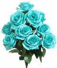 12 Open Roses ~ MANY COLORS ~ Bouquets Centerpieces Bride Silk Wedding Flowers