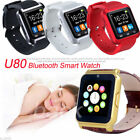 U80 Smart Watch Armbanduhr Uhr Silikon Bluetooth Phone Mate For Android For IOS