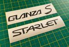 Glanza S Starlet Boot Tailgate Rear Stickers Decals for Toyota Turbo EP91 JDM