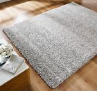 Modern Thick Fluffy Silver Grey Shaggy Rugs Non Shed Soft Area Living Room Rug
