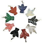 5-100 Pcs Natural Angel Gemstone Crystal Reiki Healing Charms Pendants 23mm