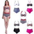 Women's Pinup Girl Bikini High Waist Retro Style Bathing Suit Vintage Swimsuit