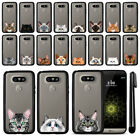 For LG G5 H850 VS987 Cat Design Black TPU SILICONE Phone Case Cover + Pen