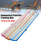 Inflatable Gym Mat Air Tumbling Track Floor Gymnastics Cheerleading Pad+Pump
