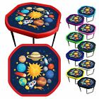 Coloured Children's Tuff Spot Play Tray with 3 tier stand & Space Play Mat.