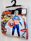 Captain America Avengers Age of Ultron Child Muscle Costume Jumpsuit Mask S M L