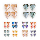 5/10Ps Glass Crystal Faceted Heart Spacer Beads 22x18mm Jewelry Necklace Finding